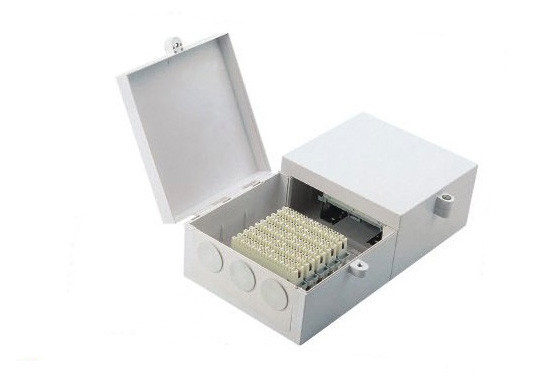 Telecommunication Wall Mount Fiber Termination Box With Back Mount Frame