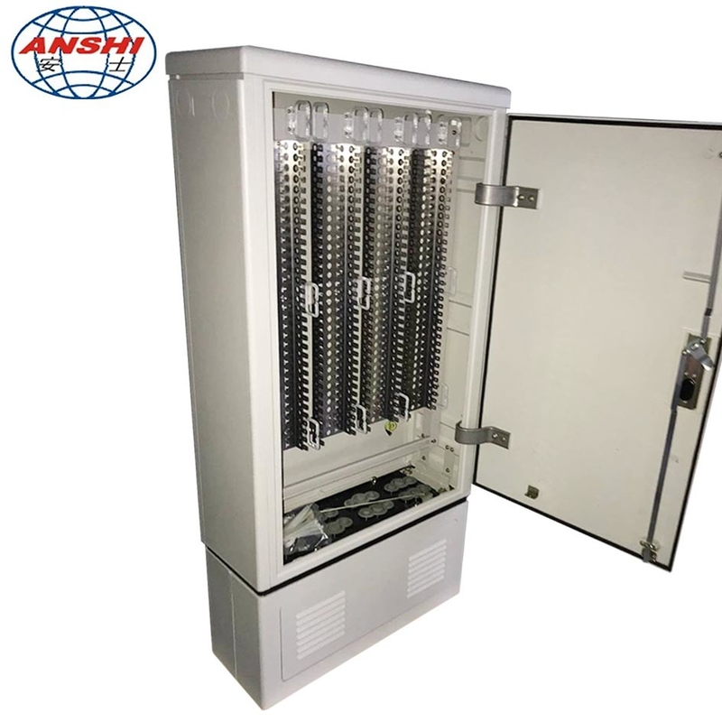 Outdoor Cable Cross Connect Cabinet 1200 Pairs 2400 Pairs Waterproof Ip55 Grade
