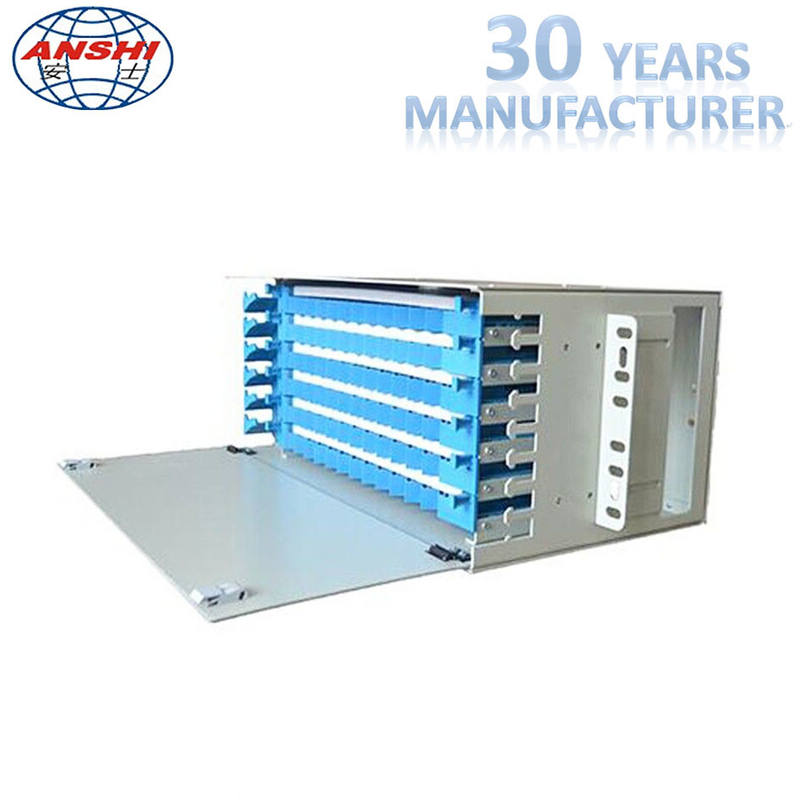 48 Core Odf Optical Distribution Frame Rack Mount For Fiber Optic Patch Panel