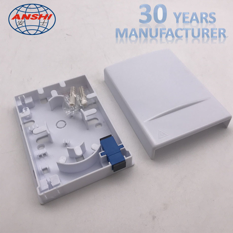 1 Port Single Fiber FTTH Distribution Box Socket Indoor Fibre Optic Termination Box