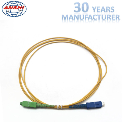 Cina 2.00m 1 Meter Simplex Single Mode Fiber Patch Cables SC / UPC - SC / APC pabrik