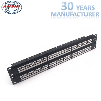 Cina Network Unshielded Patch Panel Loaded Dengan Keystone Jack 48 Port 2u Cat6 UTP pabrik